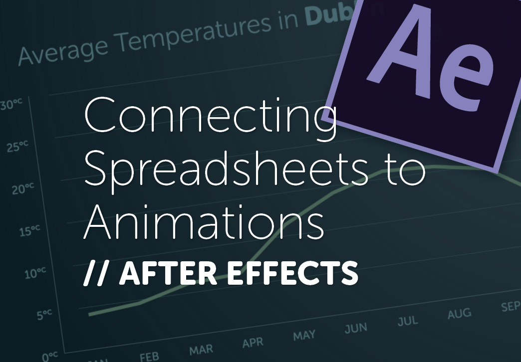 Using After Effects CC 2018, Excel and JSON to create Graphs