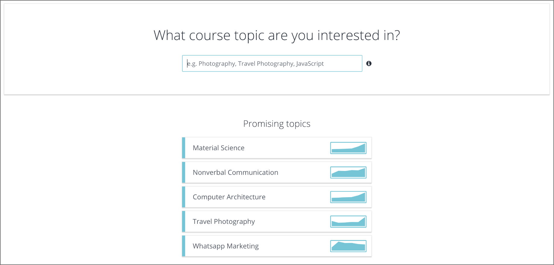 What course topic are you interested in